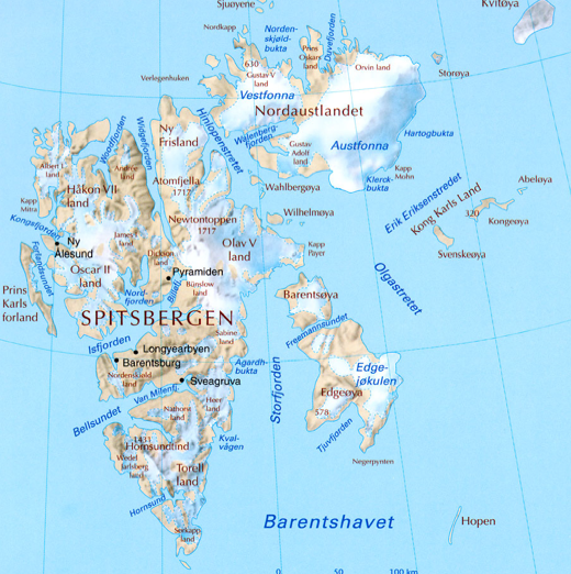 Longyearbyen: population, area, timezone, geographical position ...